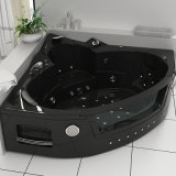 Luxury Triangle Indoor Jacuzzi Hydro Whirlpool Massage Bathtub with CE (HY-6210A)