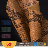 Snake Skin Pattern PVC Embossed Synthetic Leather for Bag