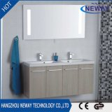 Simple Wall Melamine Double Sink Bathroom Vanity