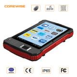 IP65 Handheld Hf RFID Reader PDA with Fingerprint Reader, Barcode Scanner