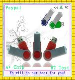 Plastic and Metal Swivel USB Stick (GC-S903)