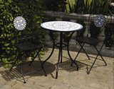 Vintage Classical Wrought Irons Antique Round Patio Decorative Bistro Metal Folading Outdoor Furniture