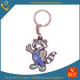 High Quality Customized PVC Key Chain in Lovely Cat Character with Die Casting