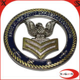 Metal Double Plating Naval Coin for Collection