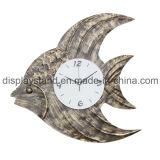 Unique Fish Shaped Iron Wall Clock for Home Decoration (MC-12)