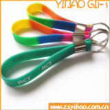 Hot Sale High Quality Silicone Wristband with Metal Ring (YB-SM-08)