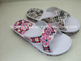 Semi-Finished EVA Slipper with Flower Printing (21IV1502)