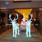 LED Crystal Reindeer Sleigh for Christmas Decoration (BW-SC-248)