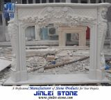 Hand Carved Natural Marble Stone Fireplace for Indoor Decoration
