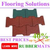 on Sales Dog Bone Shape Rubber Flooring Tiles Cheapest Price