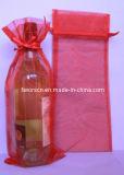 Rectangular Sheer Organza Wine Pouch