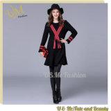 Stylish Black Elegant Flounced Hem Women Casual Dress