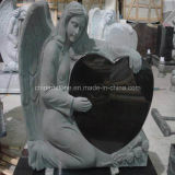 Granite Pure Black Heart Angel Monument Tombstone