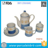 Delicate Ceramic Cup and Teapot Tea Set