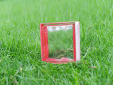 Beautiful Red Side-Coloured Cloudy Glass Brick (JINBO)