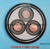BS6622 & IEC60502 18/30 (36) Kv XLPE Insulated PVC Sheathed Power Cable 3X185mm2
