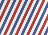 Red/Navy Stripes Comfortable Polyester Cotton Shirt Fabric