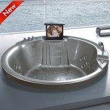 New Design Freestanding Round Corner Walk in SPA Bathtub (SR5C002)