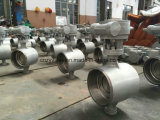 Turbine Dn200 Pn25 Butt Welded Butterfly Valve