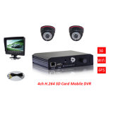 Economy Vehicle 3G WiFi H. 264 SD Mobile DVR for Vehicle Security Solution From China