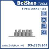 5-PC Drive E Type Star Socket Set