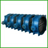Bare Shaft Double Flange Rubber Seal Butterfly Valve