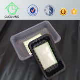 Food Industrial Use Disposable Plastic Meat Packing Boxes with Absorbent Pads