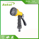 Water Pressure Gun Spray 8-Pattern Plastic Water Spray Gun