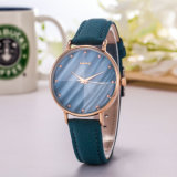Lady Watch Leather Strap Quarts Wholesale Fashion Watch (Wy-113B)