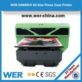 SGS Certificate A2 Small LED UV Printer for Phone Cover Wer-D4880UV