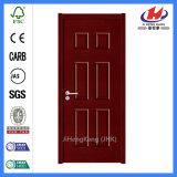 Laminated Solid Core Wood HDF Veneer Moulded Door (JHK-006)
