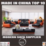 Dubai Living Room Furniture Solid Wood Leather Sofa