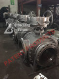 Fire-Safe&Anti-Static Worm Gear Operated 3-Way 3-Port Three-Way Patented Flanged Ball Valve Manufacturer Factory
