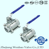 """3-PC Socket Welding SUS304 Ball Valve with 1/2"""" 1000wog"""