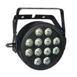 Slim PAR LED 12X12W RGBWA+UV Stage Light with Powercon