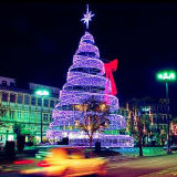 LED Outdoor Light Spiral Christmas Trees for Holiday Project