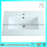 Sanitary Ware One Piece Thin Edge Ceramic Wash Basin with Cupc