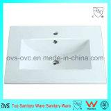Sanitary Ware One Piece Thin Edge Ceramic Wash Basin with Cupc