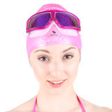Swimming Caps and Swimming Goggle with Big Frame
