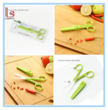 Novelty Professional Ceramic kitchen Baby Food Scissors Shears with Cover