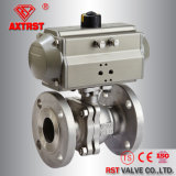 1.4308/1.4408 Flanged End 2PC Ball Valve with Pneumatic Actuator