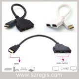HDMI Video Distribution Line Into Two Switch Splitter Hub