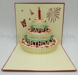 Custom 3D Paper Birthday Cake Greeting Invitation Card