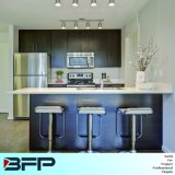 Private Custom Made Wood Kitchen Cabinet with Island