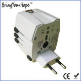 Ce Passed Travel Adapter with Dual USB Charger (XH-UC-015)