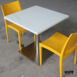 White Durable Artificial Stone Solid Surface Tables for Restaurant
