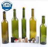 Green, Flint Cork Top Bordeaux Glass Bottle