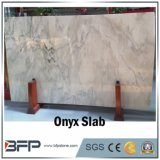 Mount White Onyx Slab for Background Wall and Plinth