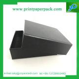 Custom Logo Printed Jewelry Cardboard Matte Black Boxes Packaging