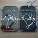Custom Embossed Logo Vintage Dog Tag Necklace